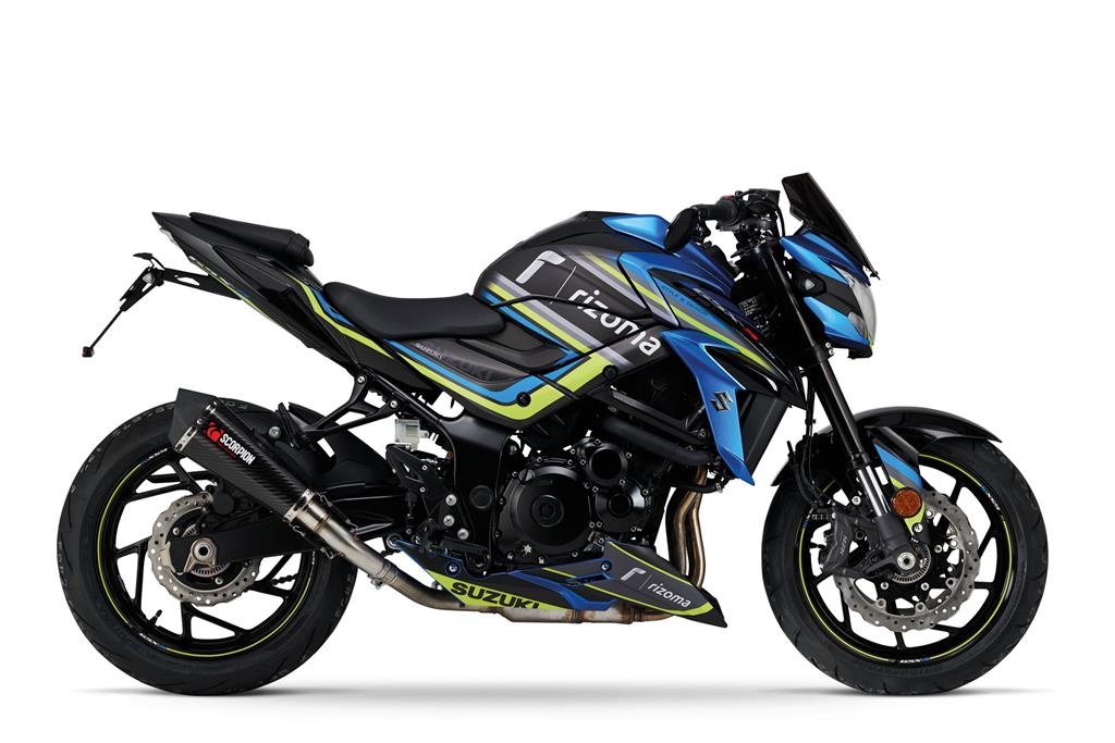 GSX-S750 Rizoma Metallic Triton Blue / Glass Sparkle Black